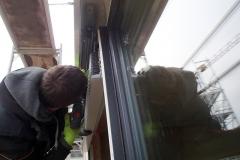 Installation de store integre avec la fenetre