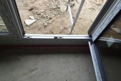 Porte balcon, seuil normal avec rehausses